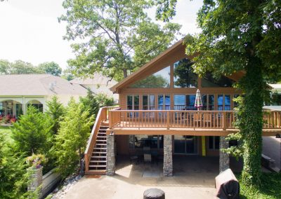 Barefoot Properties | Kentucky Lake Vacation Rentals | Lake House | Lake View | Deck with Paved Pathway